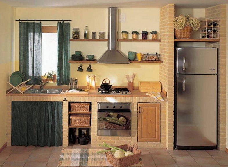 Кухни из кирпича своими руками с фото 374